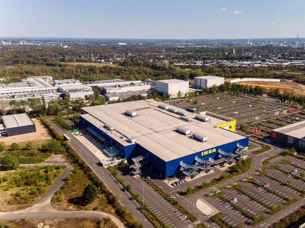 Luftbild: IKEA  und MMC-Studios in Köln-Ossendorf