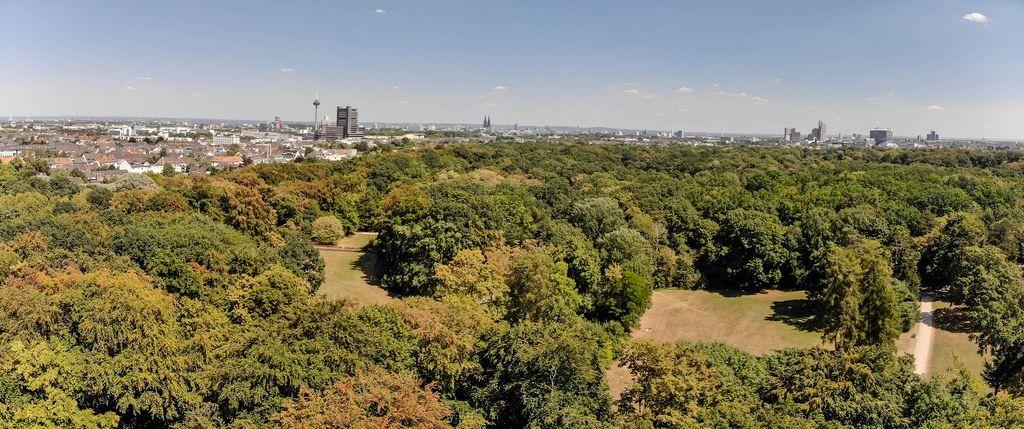 Luftbild: Panorama von Köln. Aufgenommen im Stadtwald