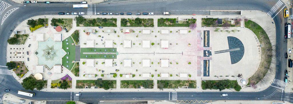 Luftbild: Platz Martim Moniz in Lissabon