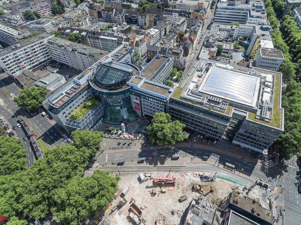 Luftbild: Sparkasse Köln am Rudolfplatz