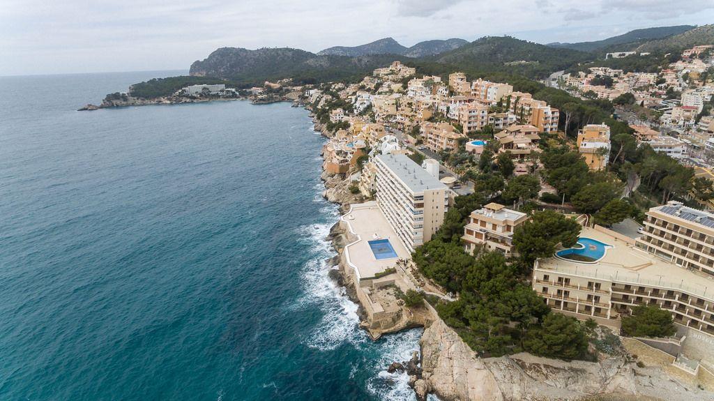 Luftbild von Peguera, Mallorca