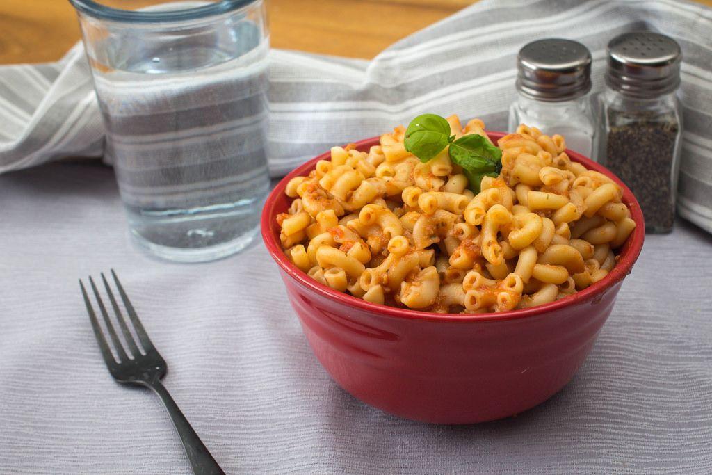 Macaroni Pasta With Tomato Sauce