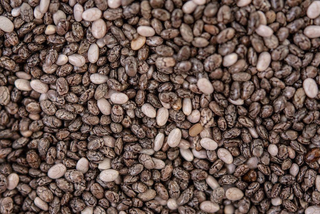Macro image of Chia Seeds background image (Flip 2019)
