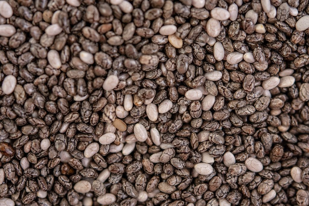 Macro image of Chia Seeds background image