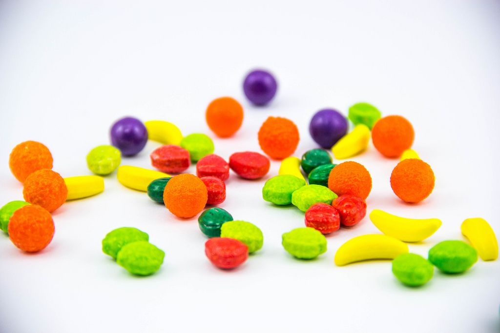 Macro of Colorful Candies