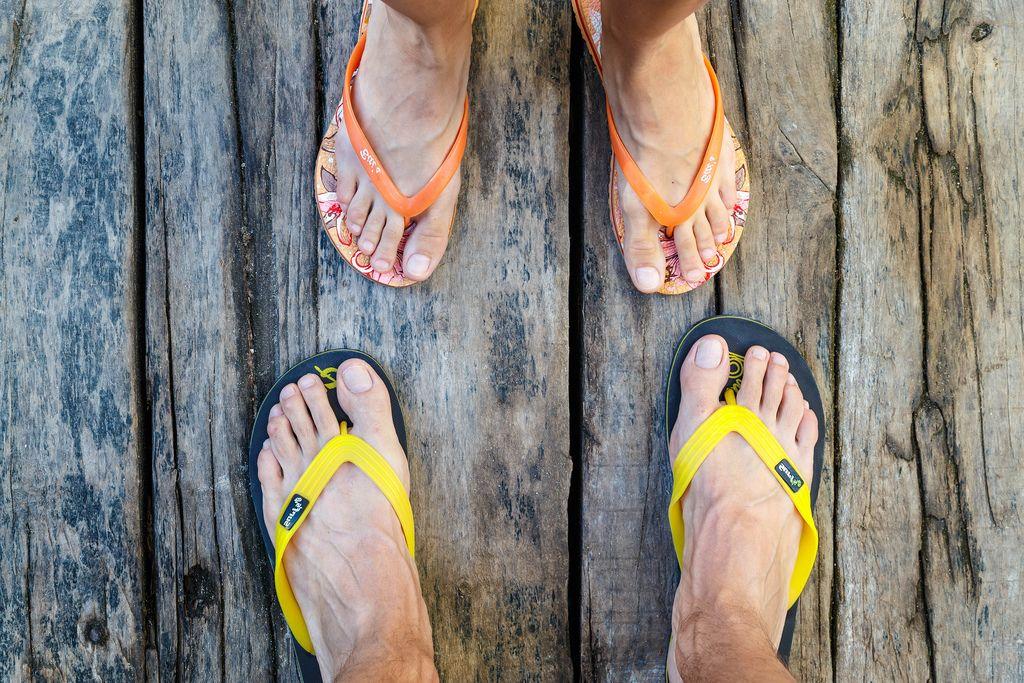 Male and female legs on the wooden floor (Flip 2019) (Flip 2019) Flip 2019
