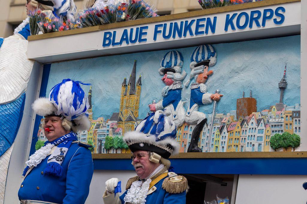 Männer des Korps der Blauen Funken - Kölner Karneval 2018