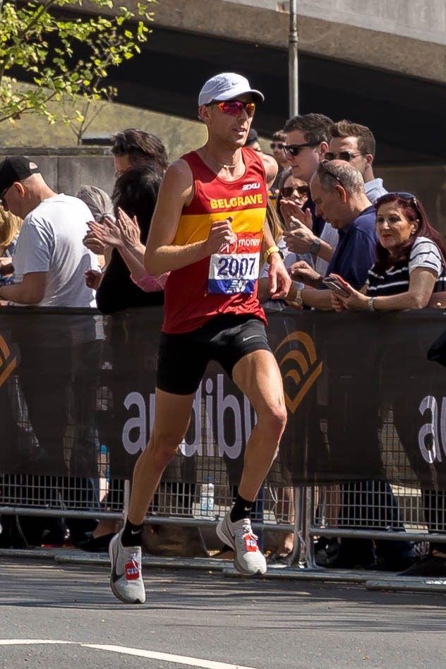 Marathonläufer Daniel Wallis - London Marathon 2018