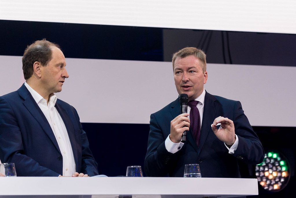 Marc Hansen, Minister Delegate for Digitalisation Government of Luxembourg and Alexander Graf Lambsdorff, Member of the German Parliament Deutscher Bundestag discussing about the digital future of Europes
