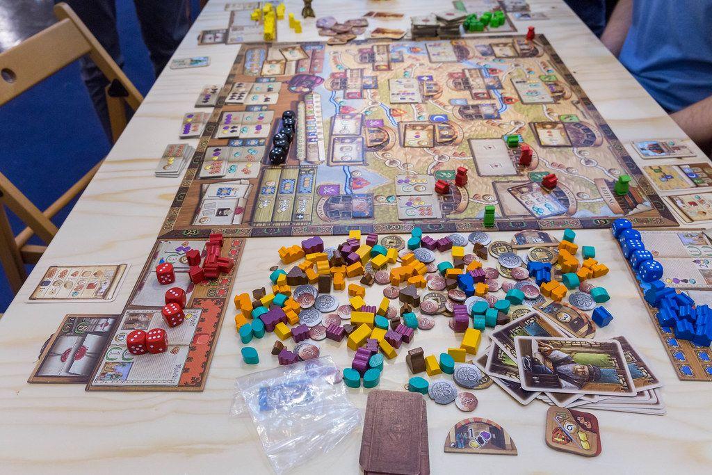 Marco Polo 2 - im Auftrag des Khan ausgebreitet auf dem Tisch auf der Spiel Essen Messe