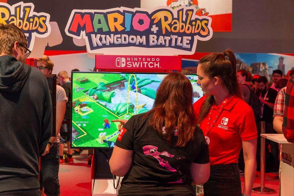 Mario + Rabbids Kingdom Battle Gaming-Ecke - Gamescom 2017, Köln