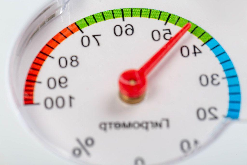 Measure humidity hygrometer close up (Flip 2019)