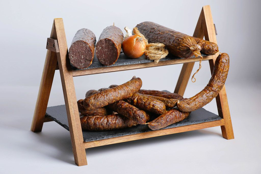 Meat platter with salami and sausages
