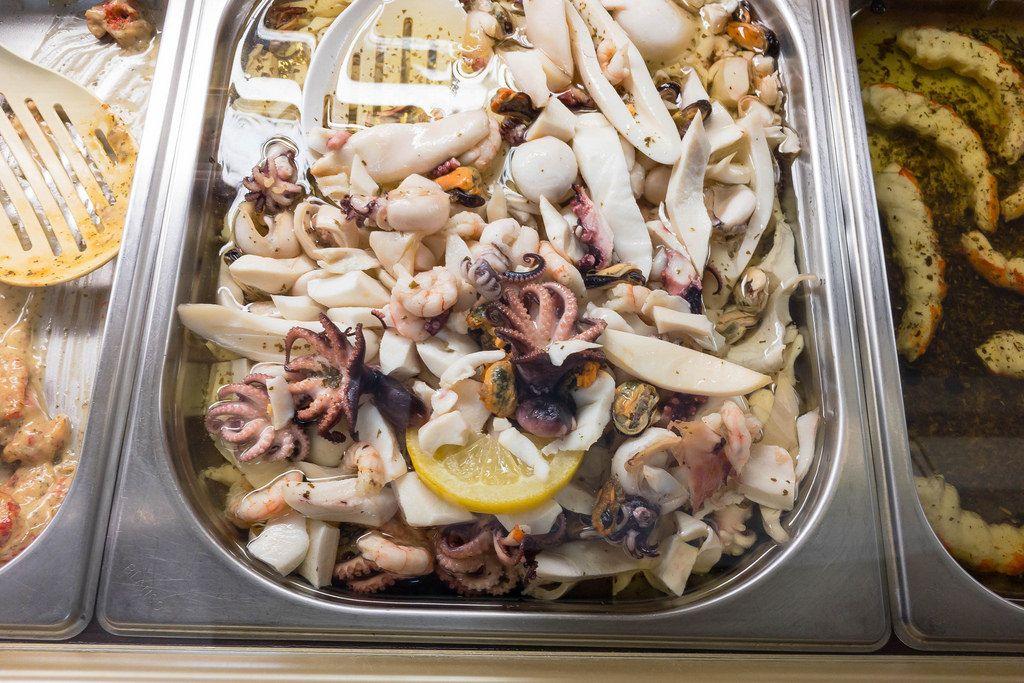 Meeresfrüchte und Krabbenfleisch