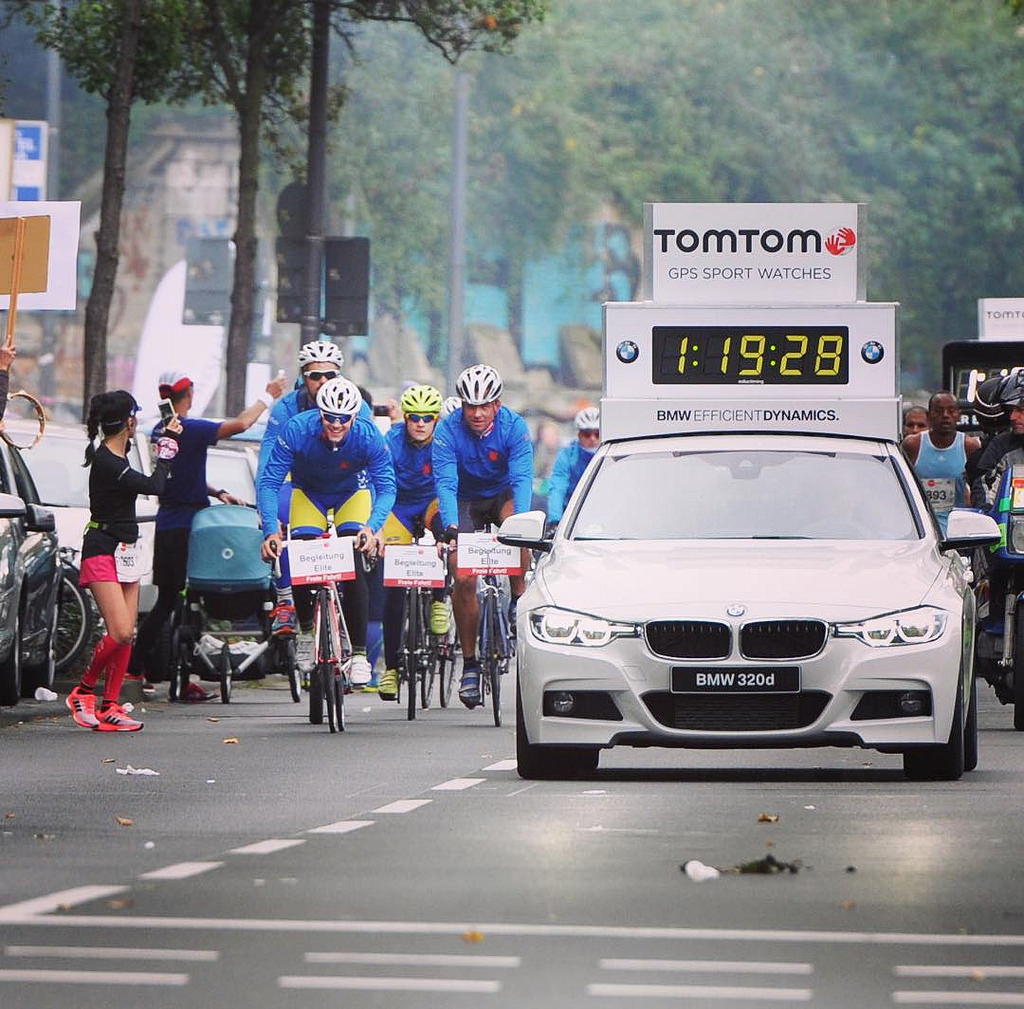 Men' elite approaching at #koelnmarathon #marathon #bmw #running #together42