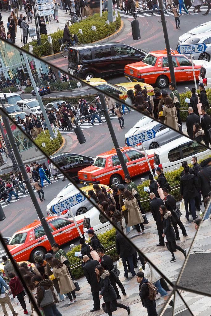 Menschen und Autos at Tokyo Plaza