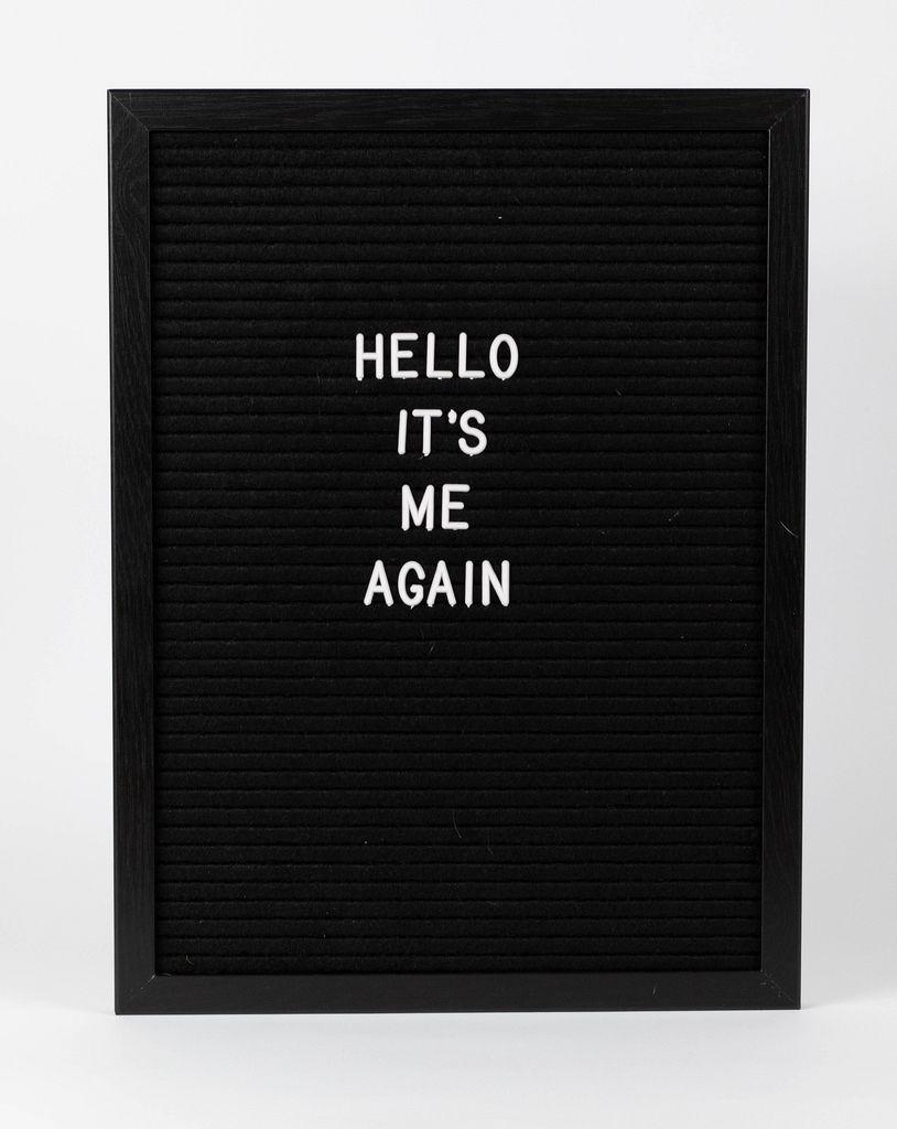 Message on black board