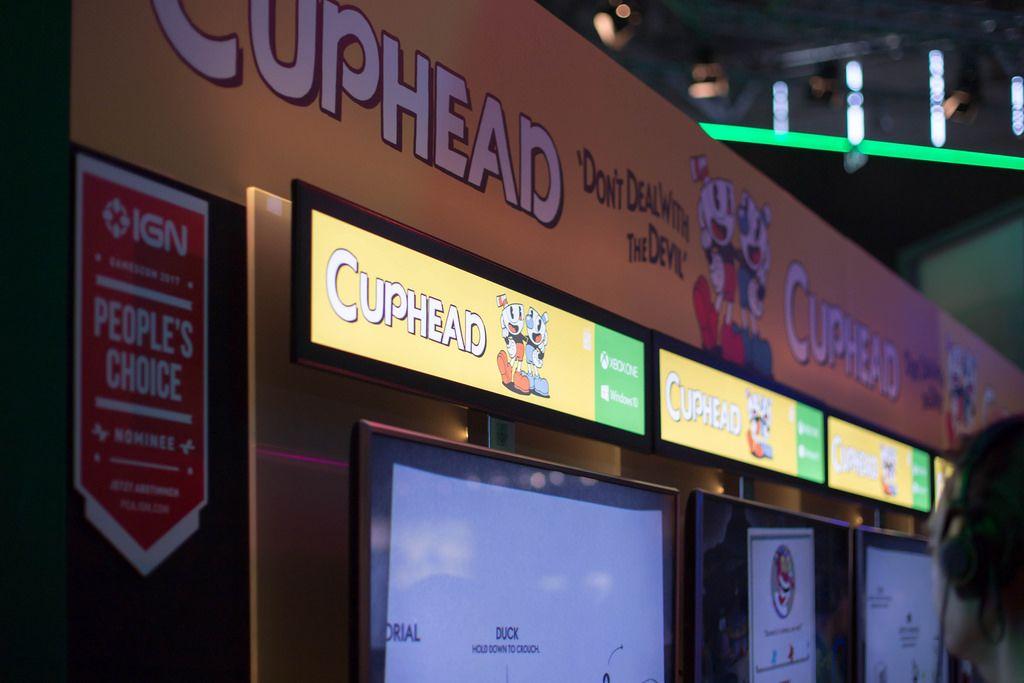 Messestand von Cuphead bei der Gamescom 2017