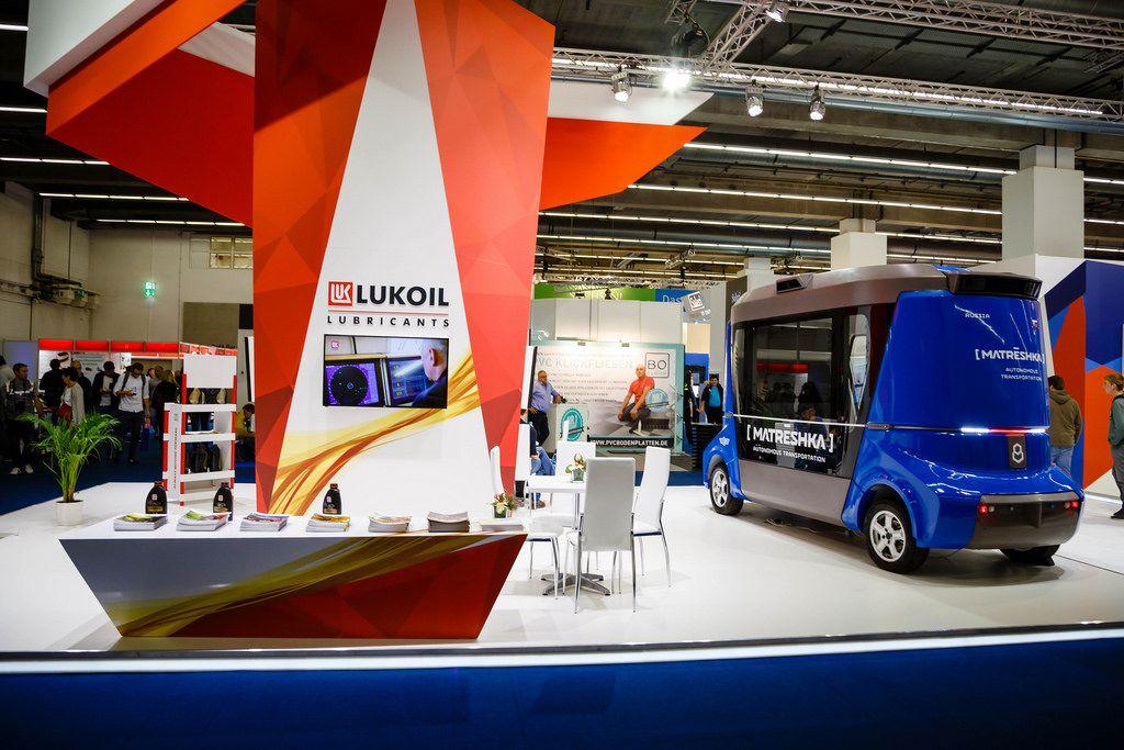 Messestand von Lukoil bei der IAA 2017
