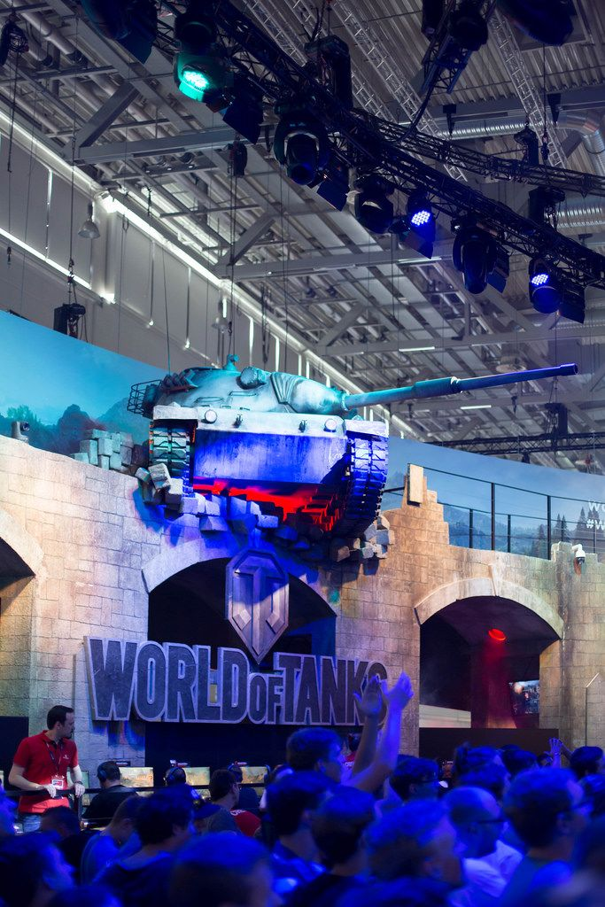 Messestand von World Of Tanks bei der Gamescom 2017