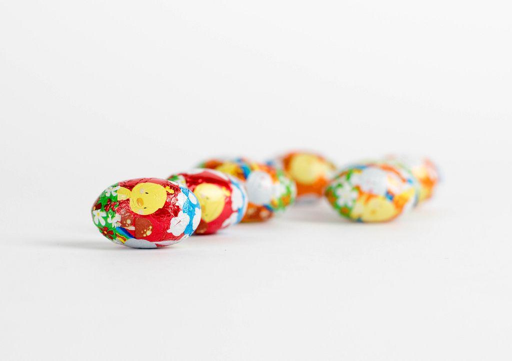 Mini Ostereier aus Schokolade