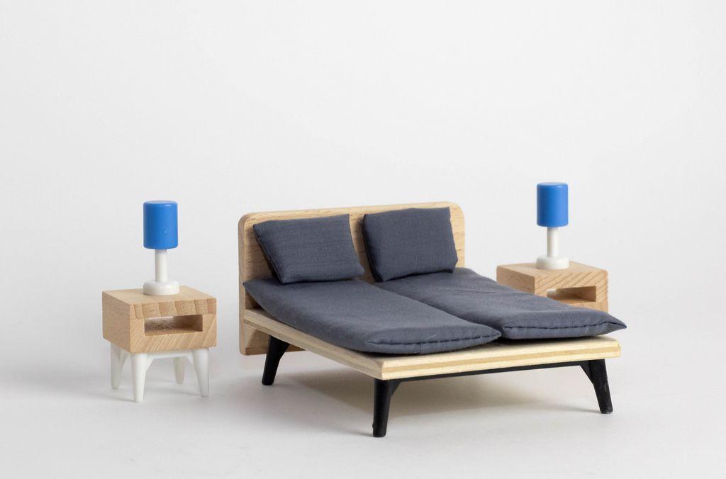 Miniatur Schlafzimmer Ausstattung Mit H Lzernen