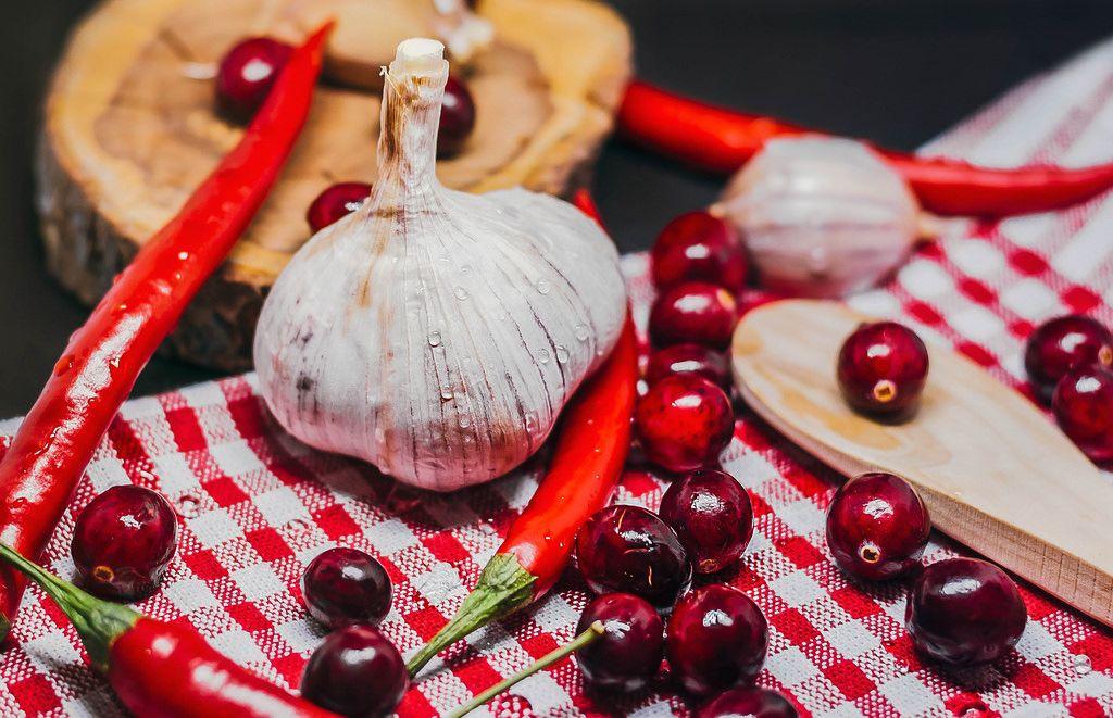Mischung gesunder Zutaten für Weihnachtsessen