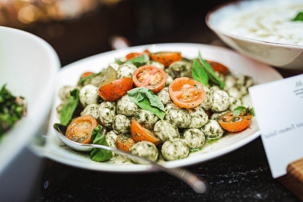 Mocarella Balls With Tomatoes Slices On Brunch (Flip 2019)