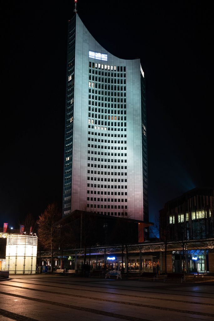 Modern high-rise building in Leipzig