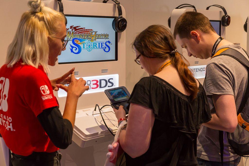 Monster Hunter Stories 3DS Gaming-Ecke - Gamescom 2017, Köln