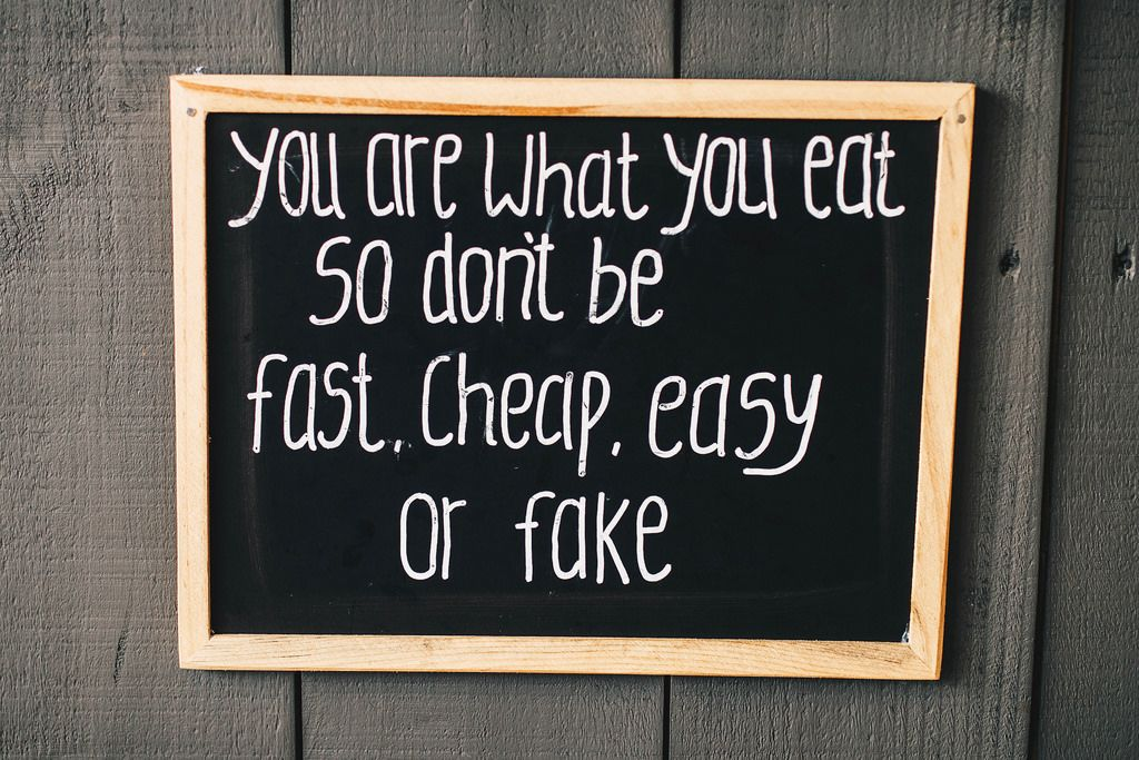Motivational sign for healthy eating