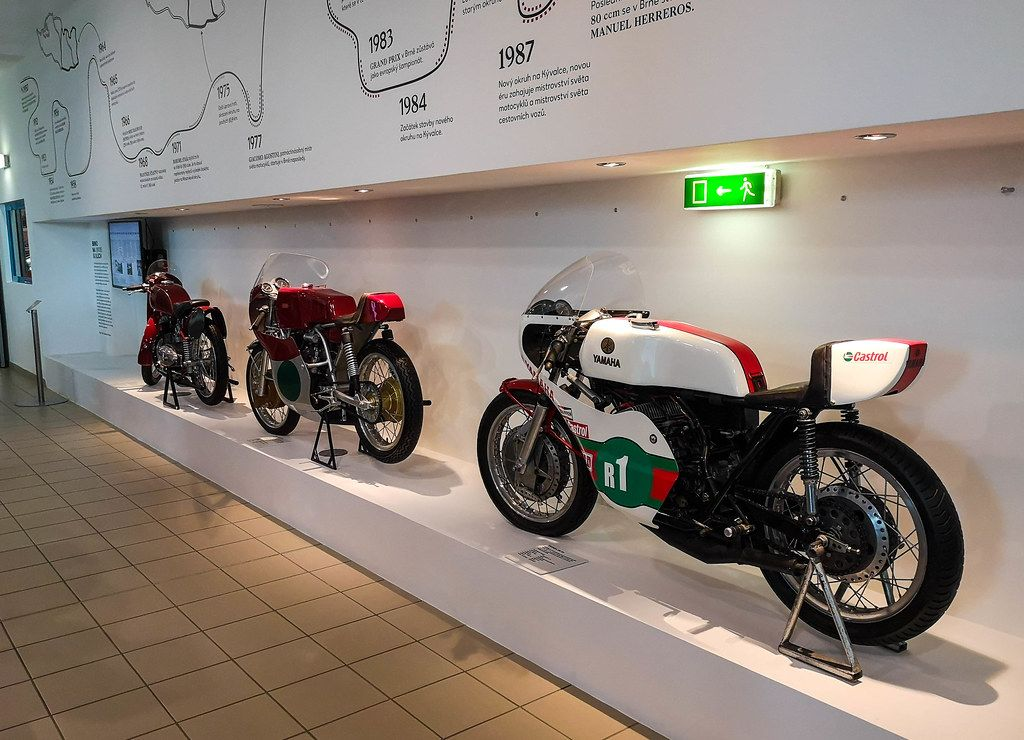Motorcycles in technical museum in Brno