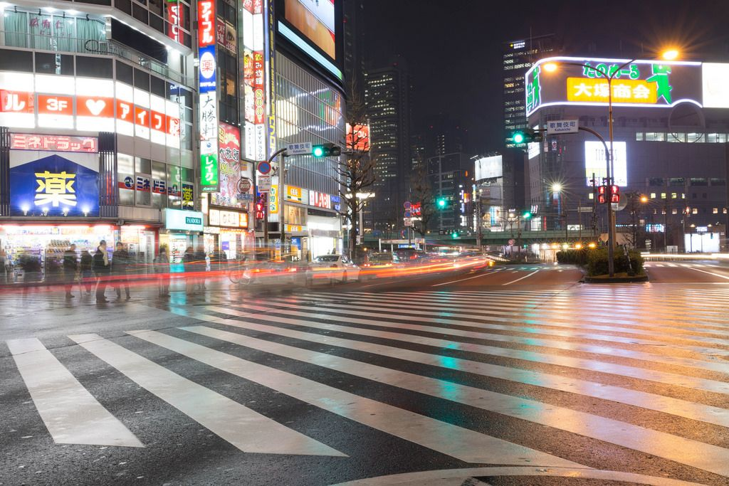 Movement on the streets of Tokyo