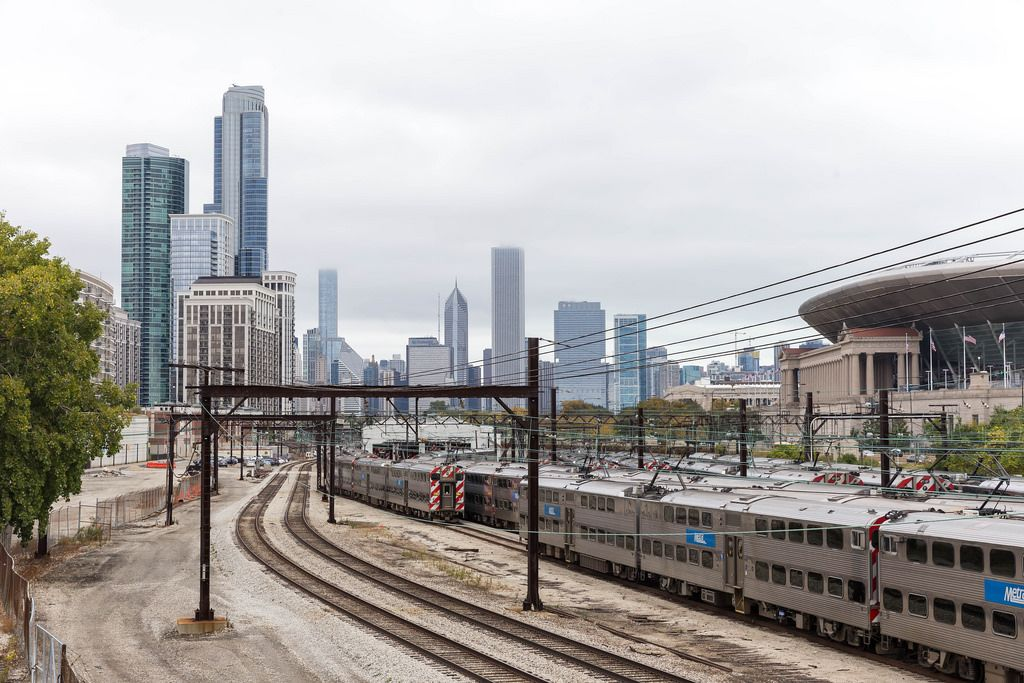 Museum Campus Train Station in Chicago
