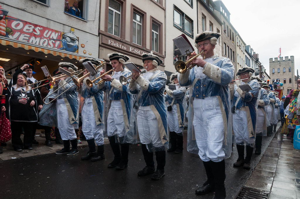 Musiker Blaue Funken