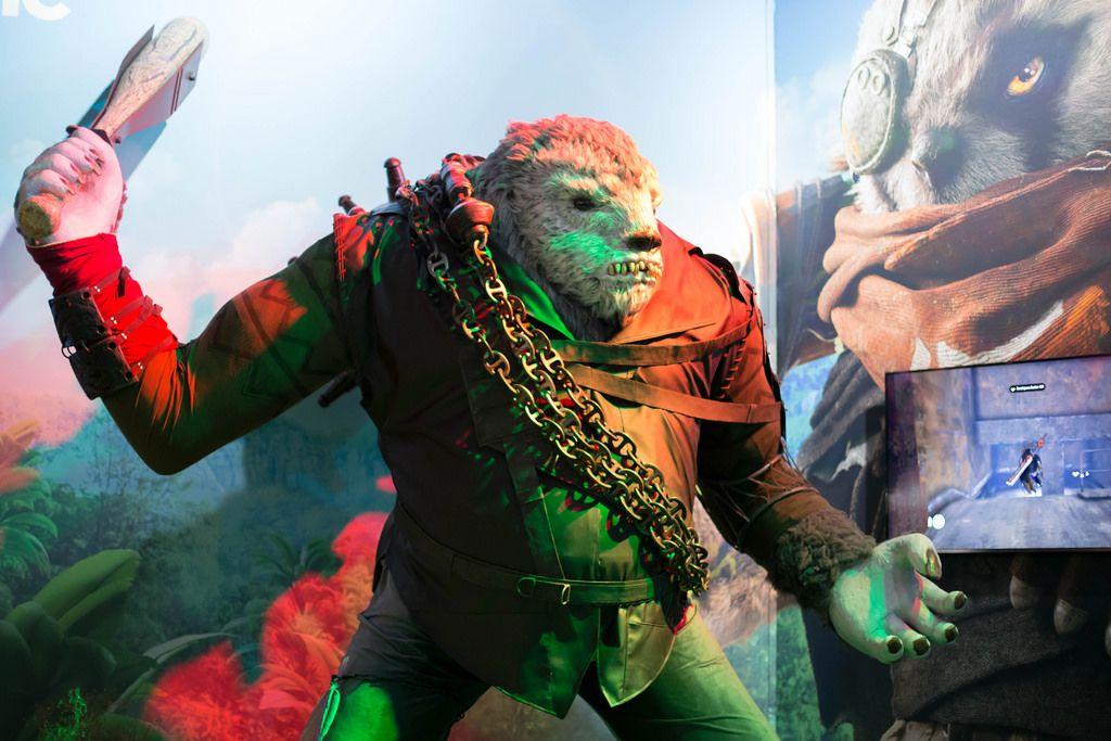 Mutant-Modell beim Biomutant Messestand
