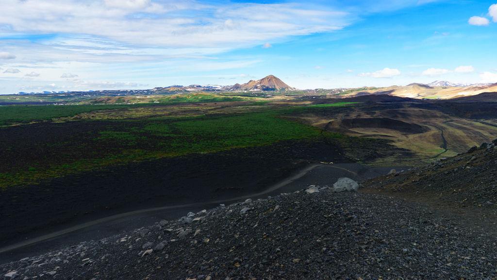 Myvatn volcano ash valley / Myvatn Vulkan Aschtal