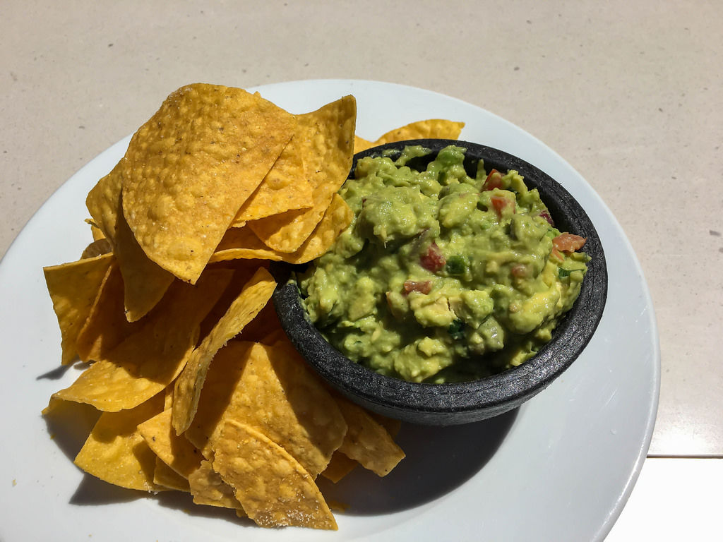 Nachos with Avocado Dip