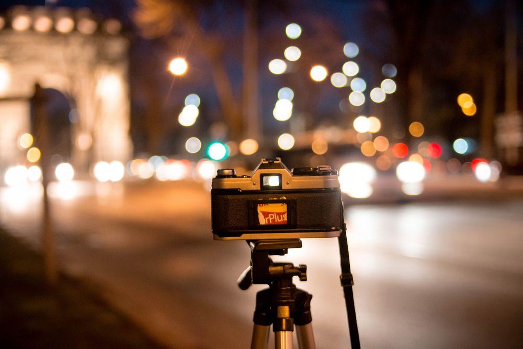 Nachtaufnahme mit Stativ