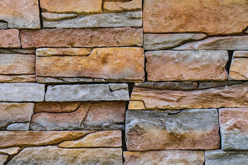 Nahaufnahme einer Steinwand