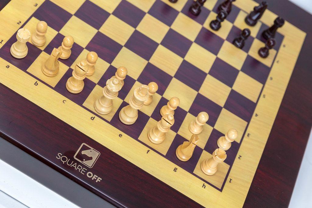 Nahaufnahme von dem weltweit klügsten Schachbrett