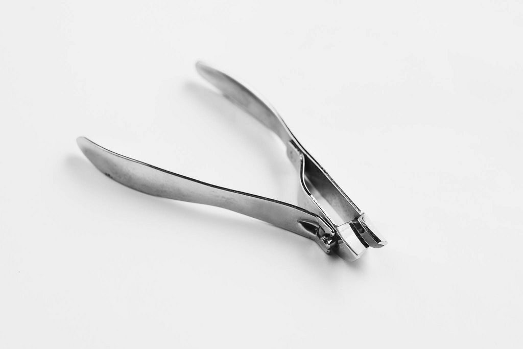 Nail clippers on white background