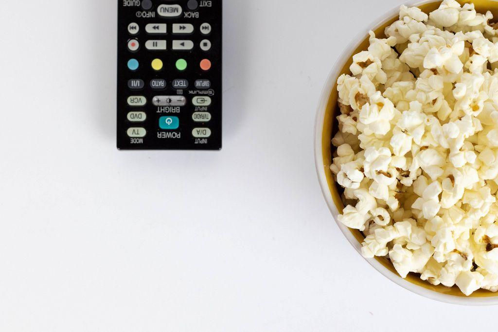 Netflix night with popcorn