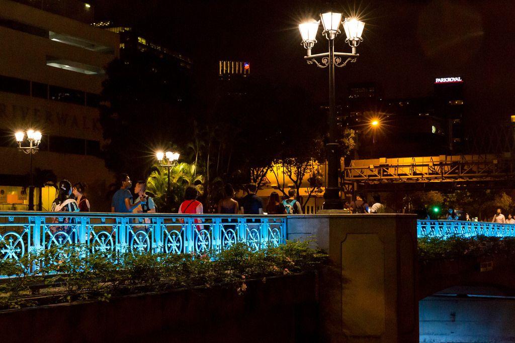 New Bridge Rd Singapore at Night