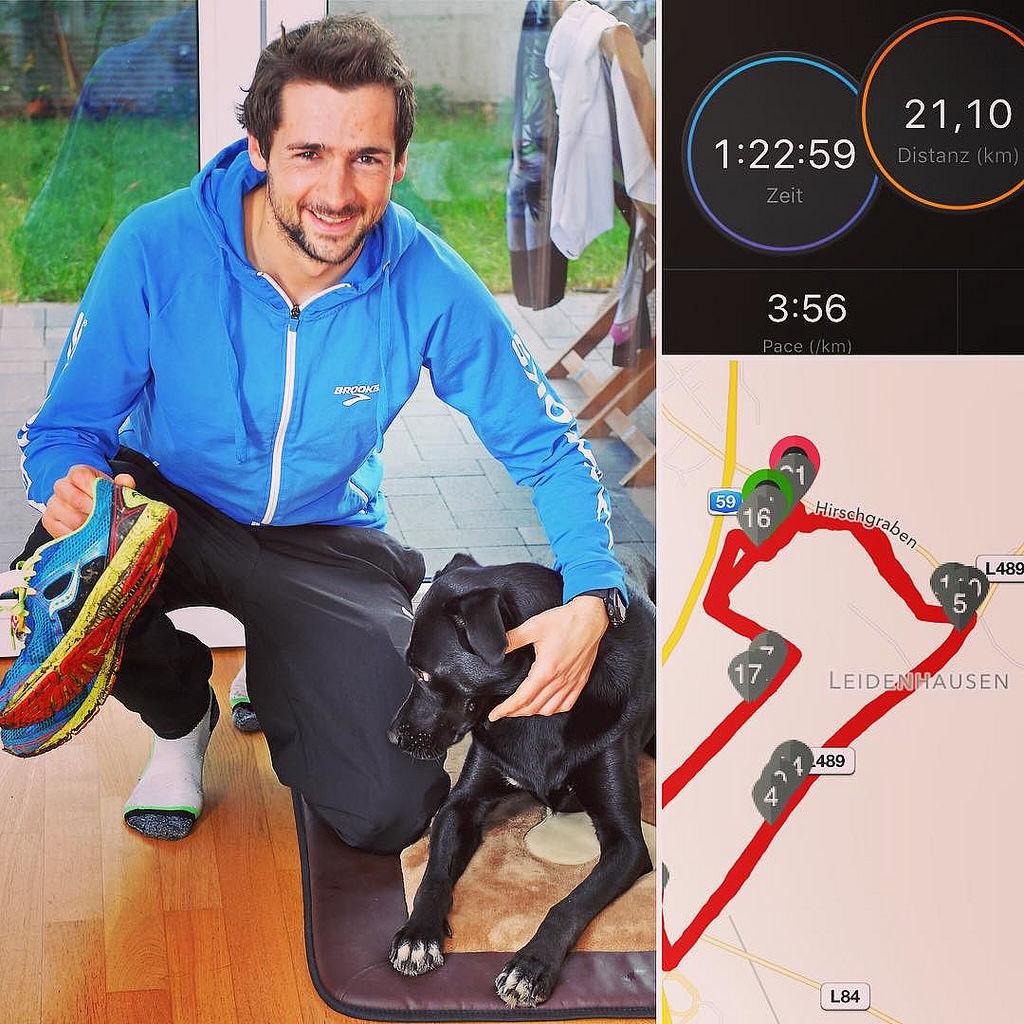New PB over the half distance. 82:59min. 🏆 No tempo training since Berlin Marathon and 3kg over 'fighting weight'. Hey, it OFF SEASON! 😂🍕😜🍔 #halfmarathon #offseason #happy #sports #marathon #triathlo