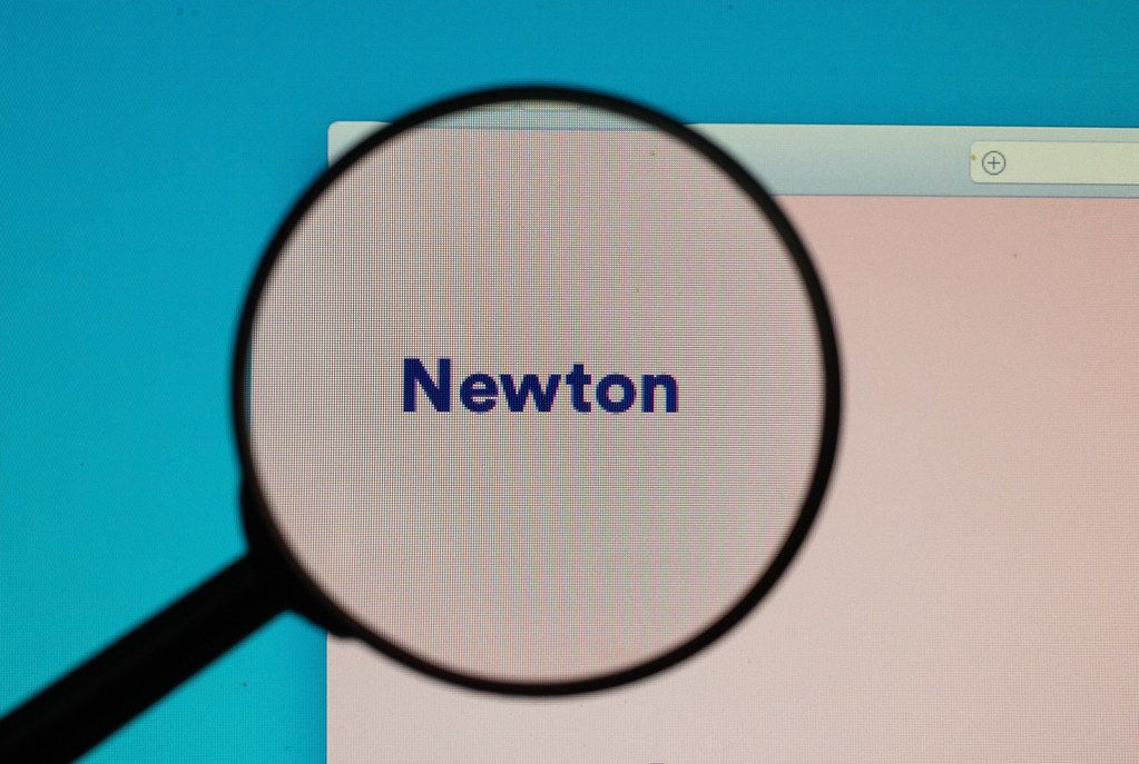 Newton logo under magnifying glass
