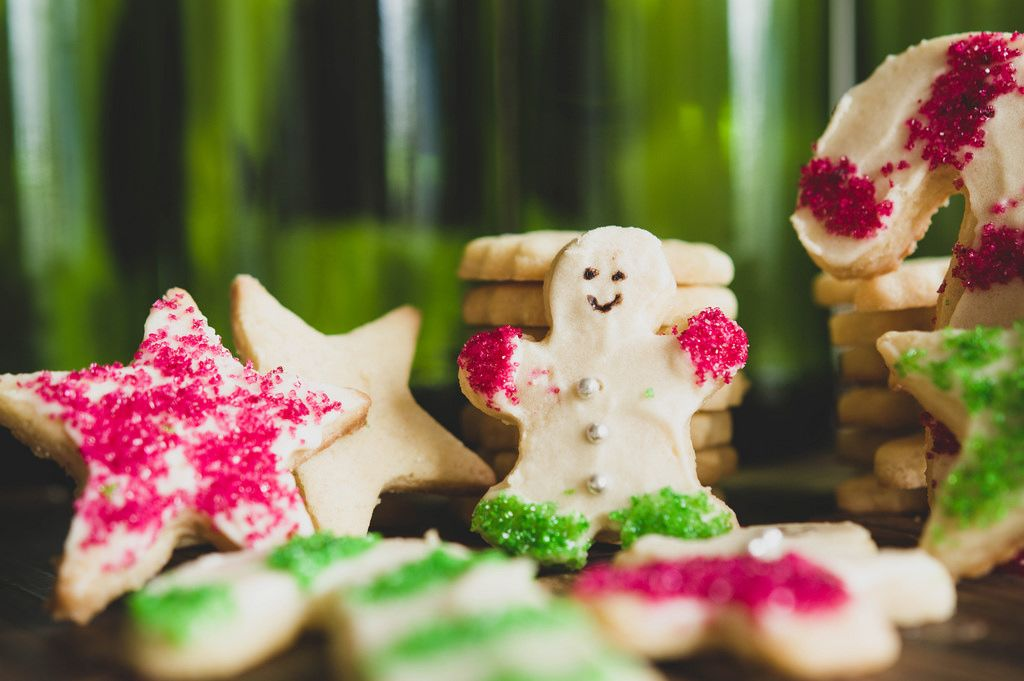 Nicely garnished christmas sugar cookies