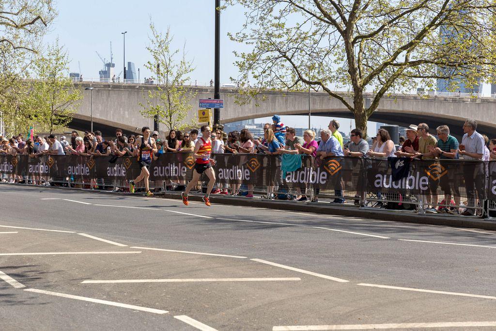 Nicolas Besson and Tom Aldred at London Marathon 2018