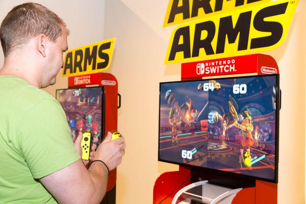 Nintendo Switch ARMS Gaming-Ecke - Gamescom 2017, Köln