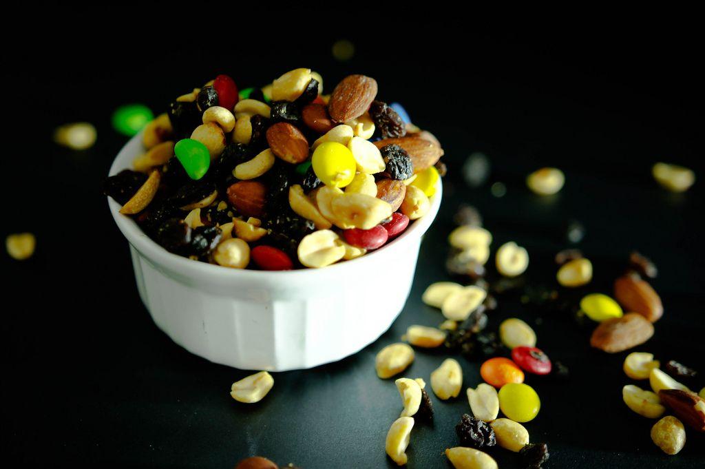 Nut mix on a white bowl (Flip 2019) (Flip 2019) Flip 2019